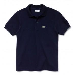 Lacoste kids polo shirt met klein logo in de kleur donkerblauw