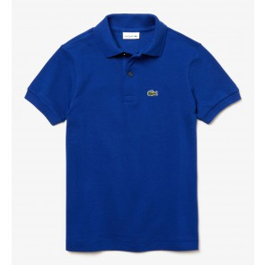 Lacoste kids polo shirt met klein logo in de kleur kobalt blauw