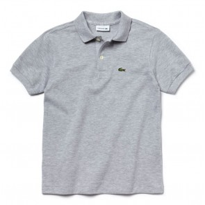 Lacoste kids polo shirt met klein logo in de kleur grijs