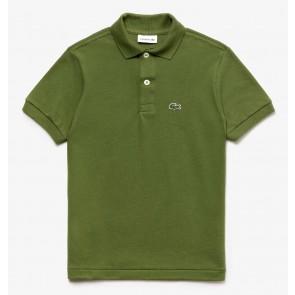 Lacoste kids polo shirt met klein logo in de kleur army green
