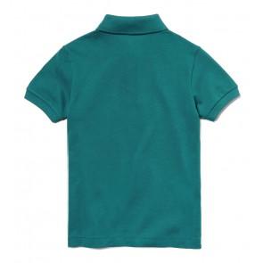 Lacoste kids polo shirt met klein logo in de kleur oud groen