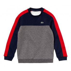 Lacoste sweater trui color block in de kleur blauw/rood