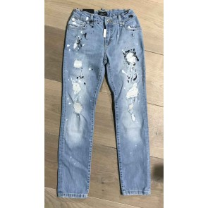 My Brand junior kids washed long skinny jeans in jeansblauw