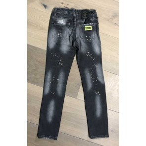 My Brand junior kids skinny jeans met spetters en scheuren in de kleur donkergrijs