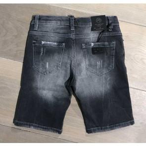 My Brand junior kids skinny short broek met spetters en scheuren in de kleur donkergrijs