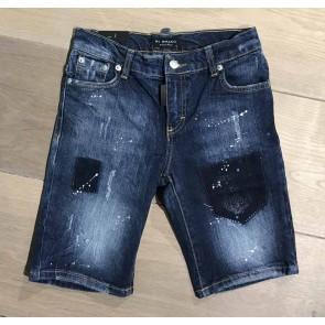 My Brand junior kids skinny short broek met spetters in de kleur jeansblauw
