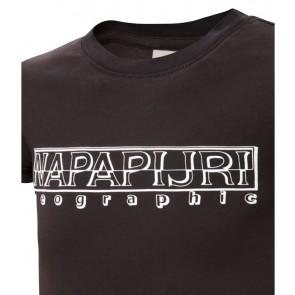 Napapijri t-shirt met logo print in de kleur black zwart