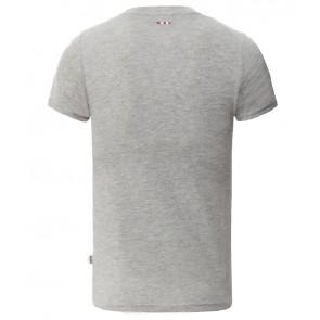 Napapijri t-shirt met logo print in de kleur grey melange grijs