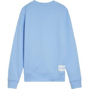 Calvin klein kids girls sweater trui met logo print in de kleur lichtblauw