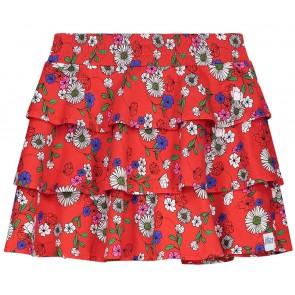 NIK en NIK Macy rok met bloemenprint in de kleur rood