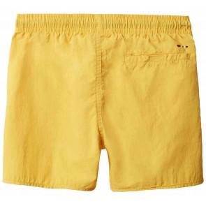 Napapijri kids zwembroek met logo in de kleur geel