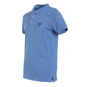 Lyle and Scott polo shirt in de kleur Sky blue lichtblauw