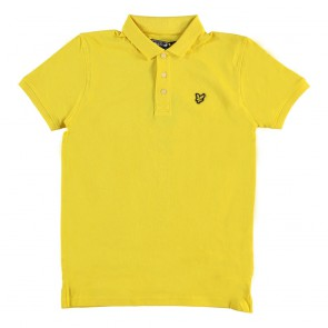 Lyle and Scott polo shirt in de kleur Dandelion fel geel