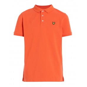 Lyle and Scott polo shirt in de kleur Tigerlilly oranje