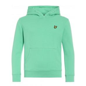 Lyle and Scott hooded sweater trui met klein vogel logo in de kleur lichtgroen