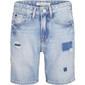 Calvin Klein kids boys korte jeans broek tapered brenton in de kleur jeansblauw