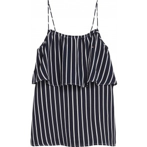 Tommy Hilfiger kids girls fine stripe top in de kleur donkerblauw