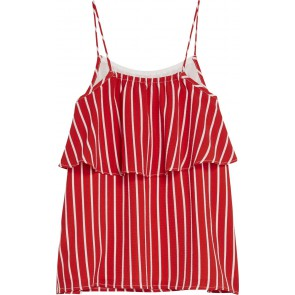 Tommy Hilfiger kids girls fine stripe top in de kleur rood