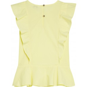 Tommy Hilfiger kids endearing embroidered top lemonade in de kleur zachtgeel