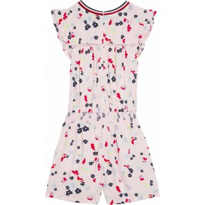 Tommy Hilfiger scattered floral playsuit jumpsuit bloemenprint in de kleur zachtroze