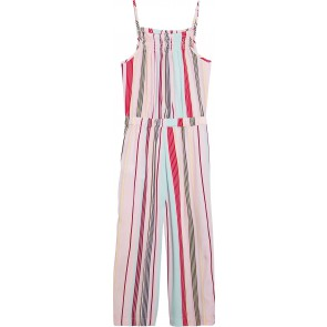 Tommy Hilfiger kids girls candy striped jumpsuit in de kleur zachtroze