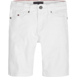 Tommy Hilfiger kids boys korte short broek Steve slim tapered fit in de kleur wit