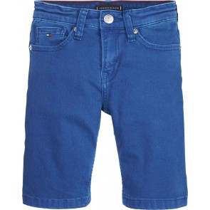 Tommy Hilfiger kids boys korte short broek Steve slim tapered fit in de kleur kobalt blauw