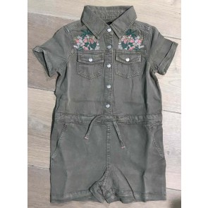 IKKS kids girls jumpsuit combi court in de kleur army green groen