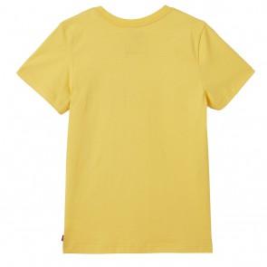 Levi's kids boys shirt met logo print in de kleur geel