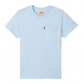 Levi's kids boys shirt met borstzakje in de kleur lichtblauw