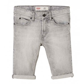 Levi's kids boys korte jeans broek slim fit 511 in de kleur lichtgrijs