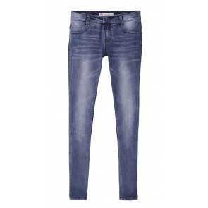 Levi's kids girls super skinny jeans 710 in de kleur jeansblauw