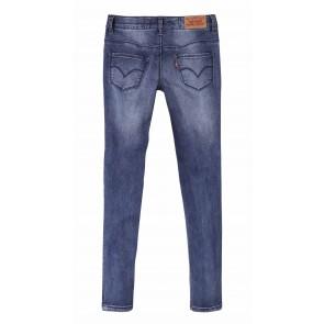 Levi's kids girls super skinny jeans 710 in de kleur jeansblauw