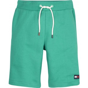 Tommy Hilfiger flag sweatshort korte broek in de kleur dynasty green groen