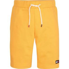 Tommy Hilfiger flag sweatshort korte broek in de kleur geel
