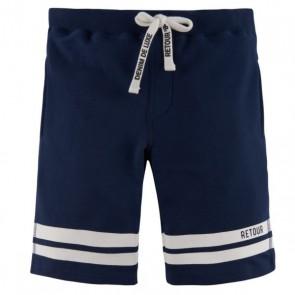 Retour denim sweatshort broek Elvin in de kleur donkerblauw