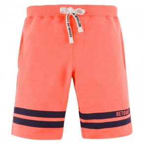 Retour denim sweatshort broek Elvin in de kleur neon koraal