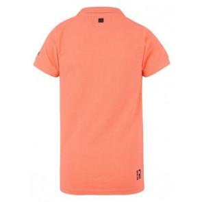 Retour denim polo shirt Igor in de kleur neon koraal