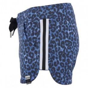 Retour jeans sweat short broek Morena met panterprint in de kleur blauw