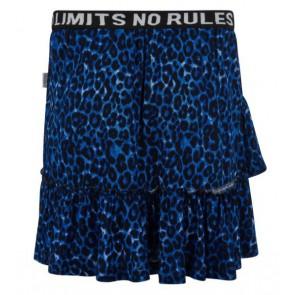 Retour jeans rok guanita met panterprint in de kleur blauw