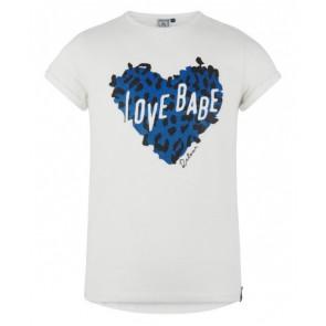 Retour jeans shirt Esmeralda love babe shirt in de kleur wit