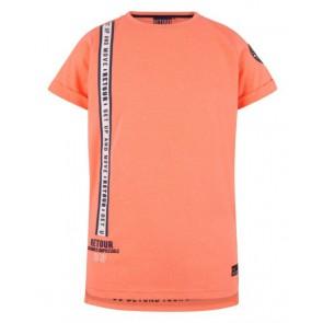 Retour jeans t-shirt Italo in de kleur neon koraal