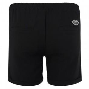 Retour jeans short Isla met knopen in de kleur zwart