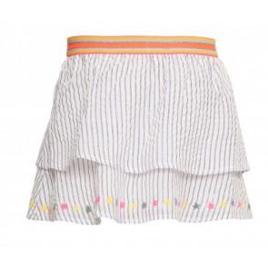 Le big rok met glitter strepen in de kleur wit