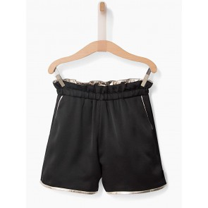 IKKS glanzende reversible short in de kleur zwart/ metallic goud