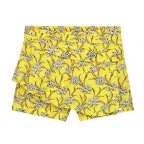 Nik en Nik bloom short korte broek met bloemenprint in de kleur geel