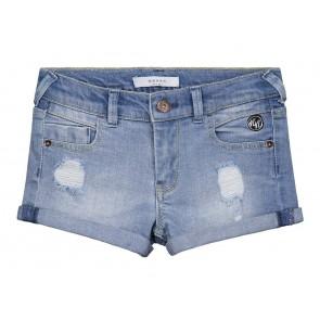 Nik en Nik jeans korte broek Femke shorts in de kleur jeansblauw