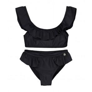 Nik en Nik Yolanda ruffle bikini in de kleur black zwart