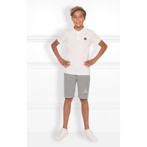 Nik en Nik sweat fip shorts in de kleur light grey melange grijs