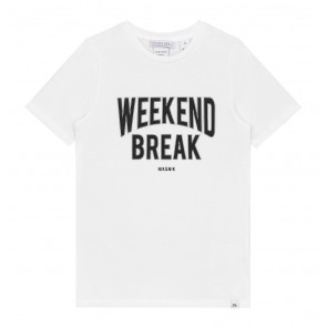 Nik en Nik weekend t-shirt weekend break in de kleur off white